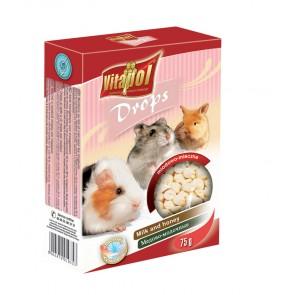 Vitapol, Dropsy dla gryzoni i królików, mleczno-miodowe, 75g