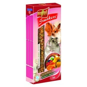 Vitapol, Smakers, Kolba dla gryzoni i królików, owocowy, 2 sztuki
