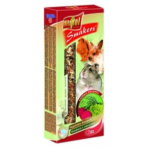 Vitapol, Smakers, Kolba dla gryzoni i królików, warzywna, 2 sztuki