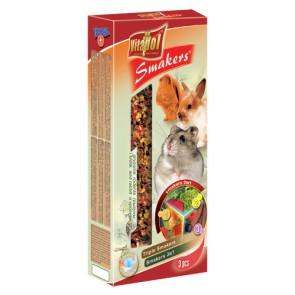 Vitapol, Smakers 3w1, Kolba dla gryzoni i królików, 3 sztuki